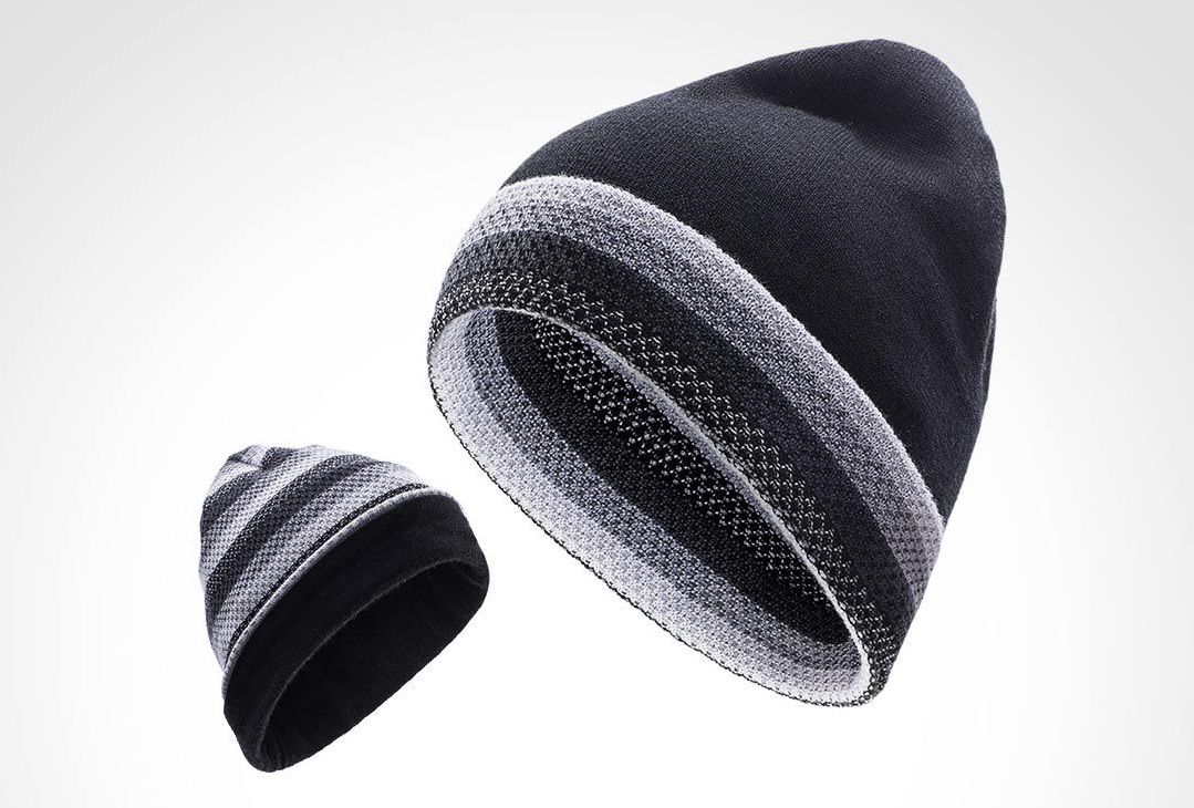 RunMi 90GOFUN Striped Double Knit Hat якісна шапка