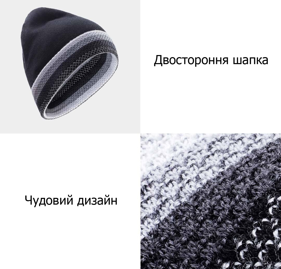 RunMi 90GOFUN Striped Double Knit Hat якісні матеріали