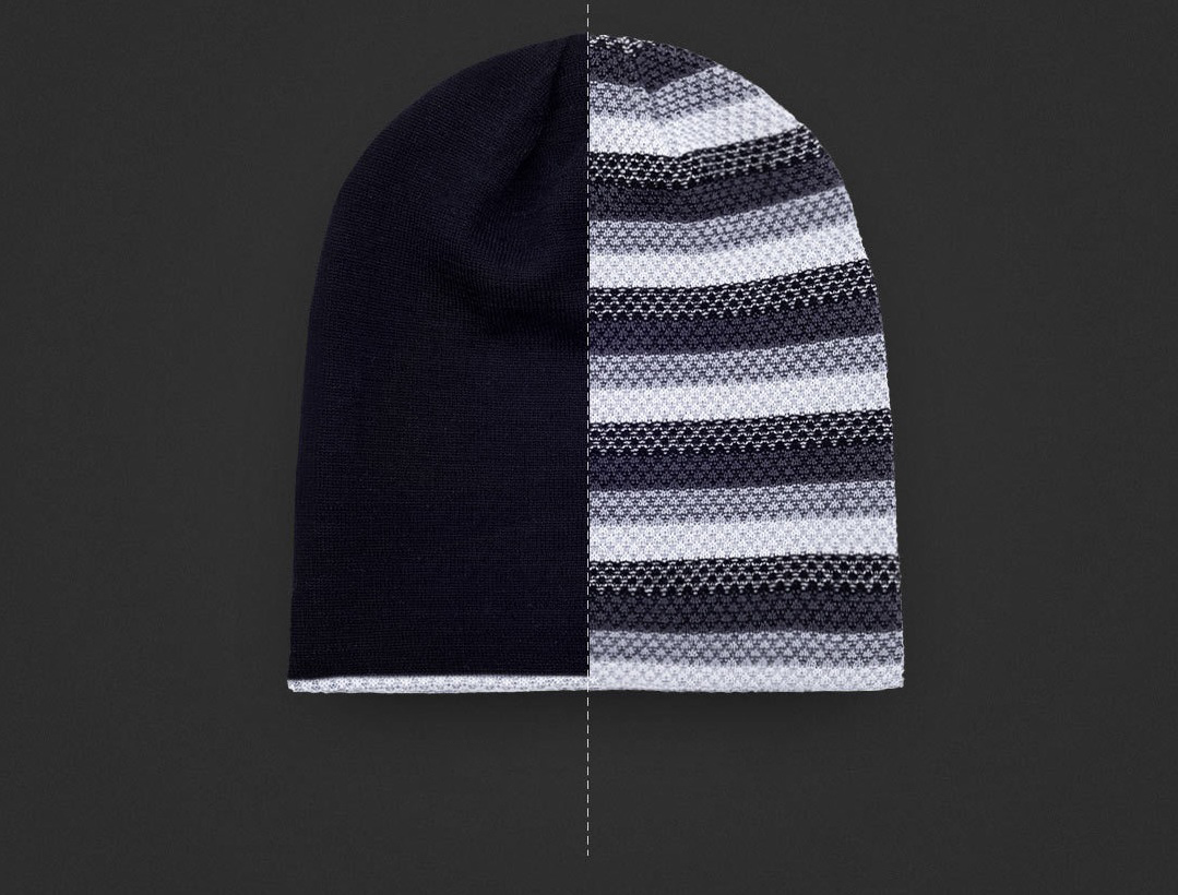 RunMi 90GOFUN Striped Double Knit Hat два кольори