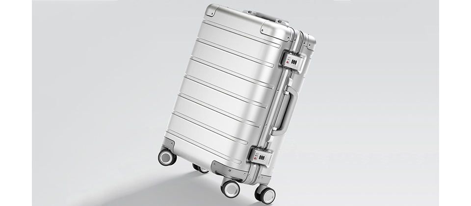 Валіза RunMi 90 Points Metal Suitcase Business Travel Silver 20