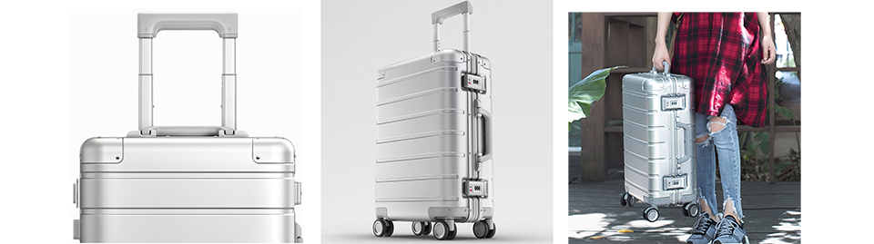 Валіза RunMi 90 Points Metal Suitcase Business Travel Silver 20 ручка
