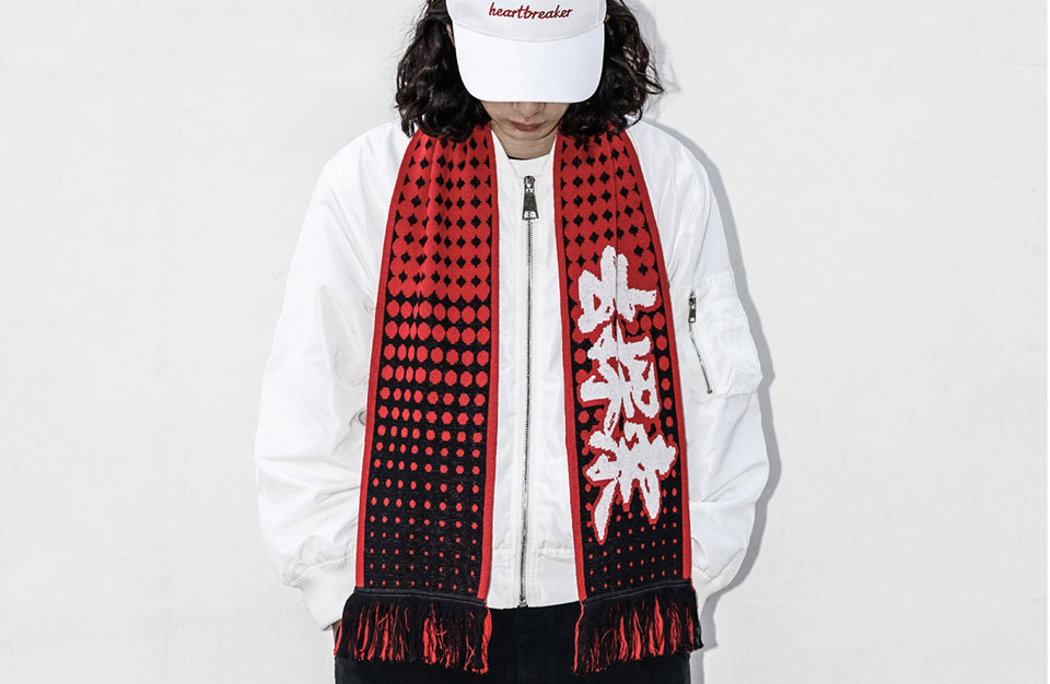 Mi Scarf Black/Red малюнок