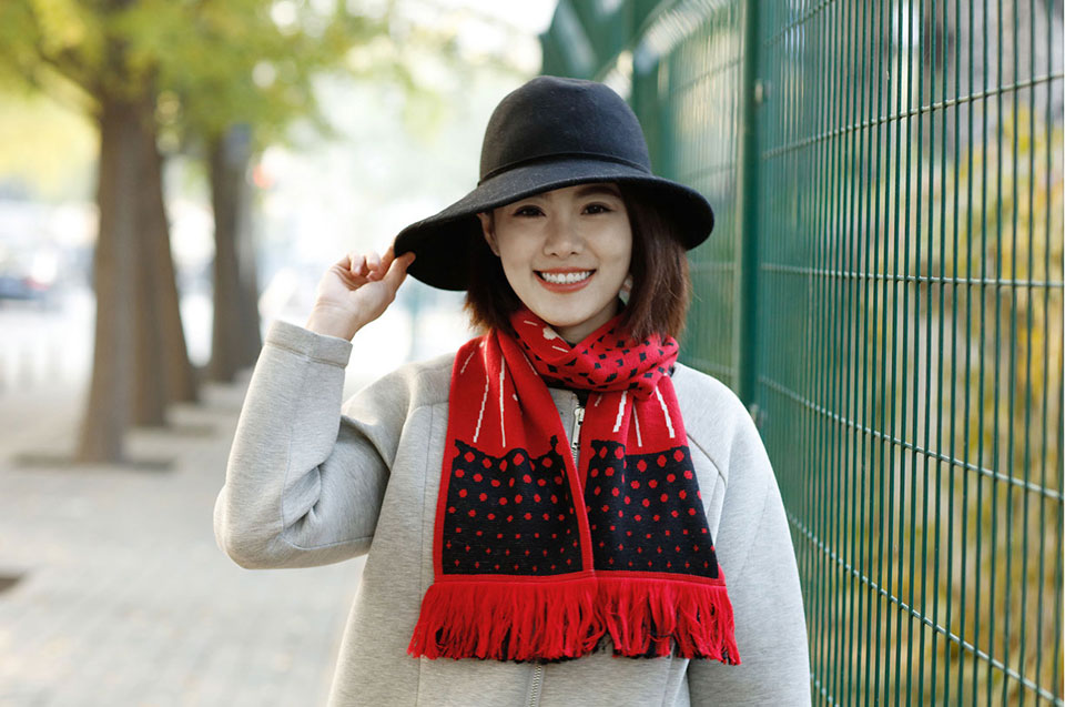 Mi Scarf Black/Red вовна