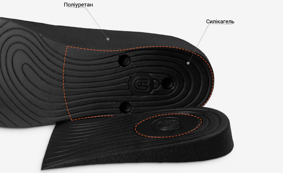 Устілки Synthetic With increased height insole PU18ZG001 матеріали
