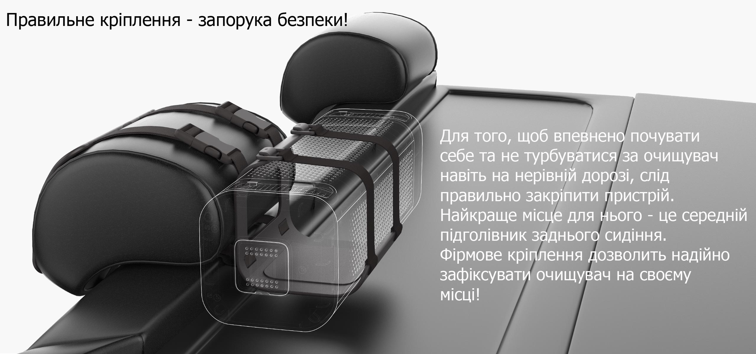 Mi Car Air Purifier Black кріплення