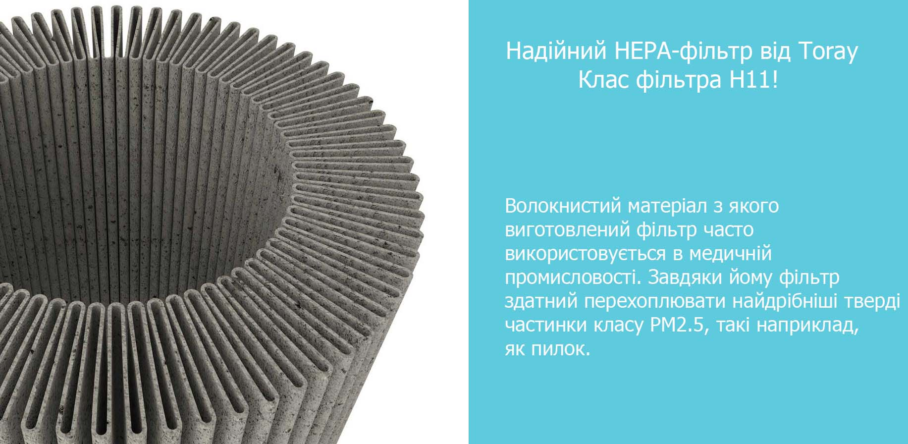 Mi Car Air Purifier Black HEPA матеріал