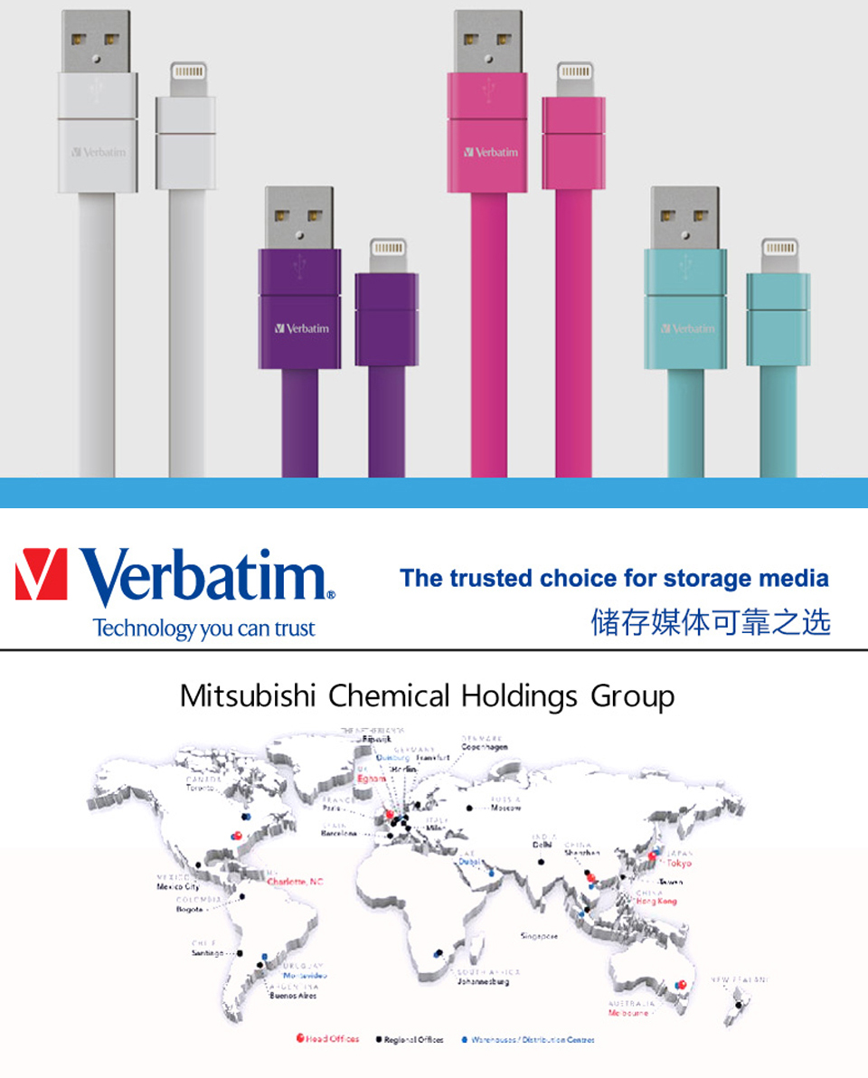 Кабель Verbatim iPhone Lightning MFI 20 см