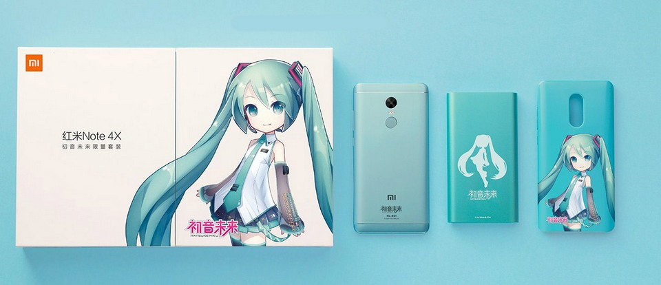 Xiaomi Redmi Note 4х Hatsune Miku set