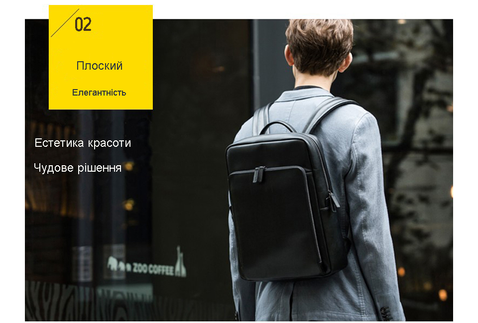 Рюкзак Xiaomi 90 Points Business Backpack Black елегантність