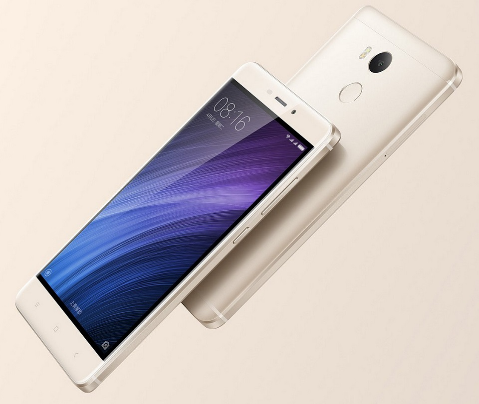 Смартфон Xiaomi Redmi 4 Dark Gray 2/16 Gb вид збоку