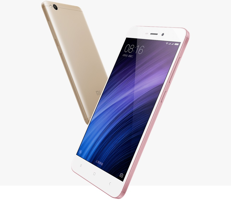 Смартфон Xiaomi Redmi 4A Gold 2/16 Gb вид збоку