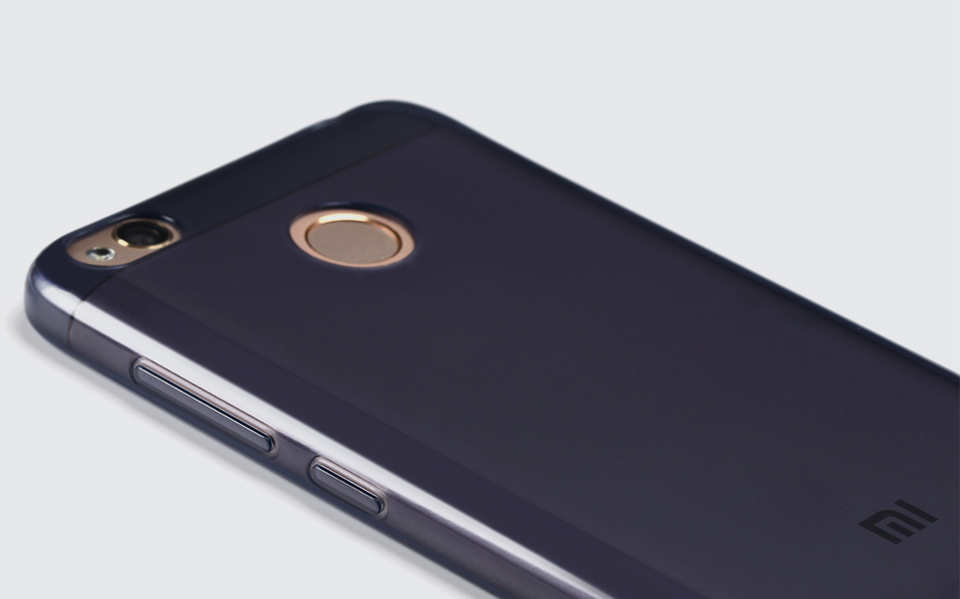 Чохол бампер для смартфонів Xiaomi Redmi 4X Soft Case Black ORIGINAL крупним планом