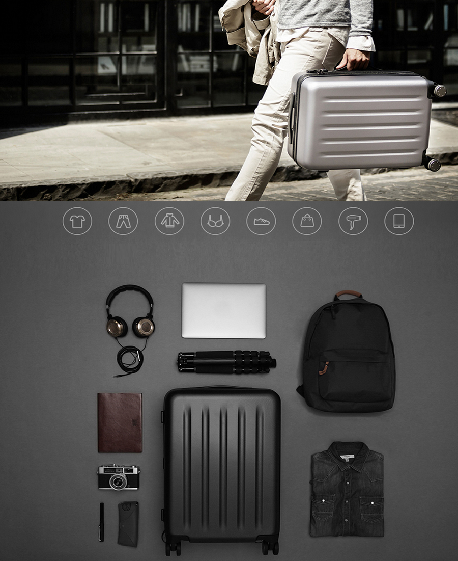Валіза Xiaomi 90 Points Suitcase Dark Grey Magic Night 28`` деталі