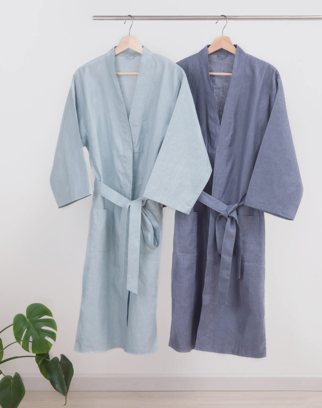 ZaxArt-Linen-Couple-Nightgown-Grey - ZY170908
