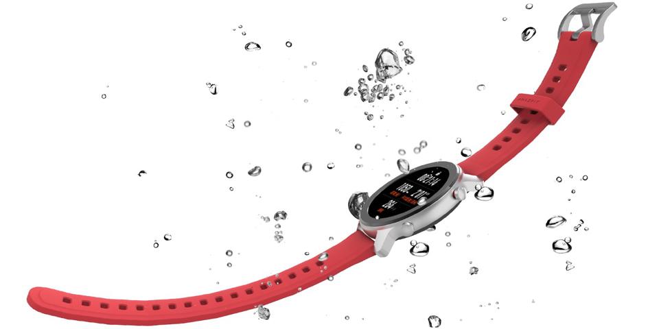 Розумний годинник Xiaomi Amazfit GTR 47mm Stainless steel в воді