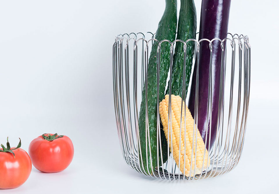 Maison Maxx Stainless Steel Woven Fruit фруктовниця