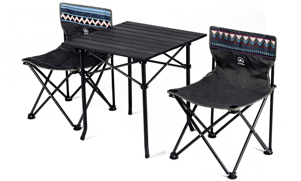 Набір Xiaomi GOCAMP OBS1005 folding picnic table and chair three-piece крупним планом