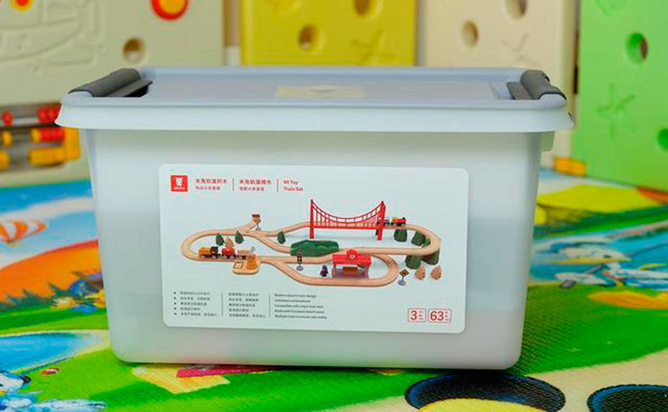 Mitu Toy Train Set 63 Pcs конструктор