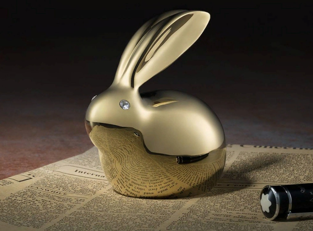 TONGSHIFU Crystal Copper Bunny Gold  кролик талисман