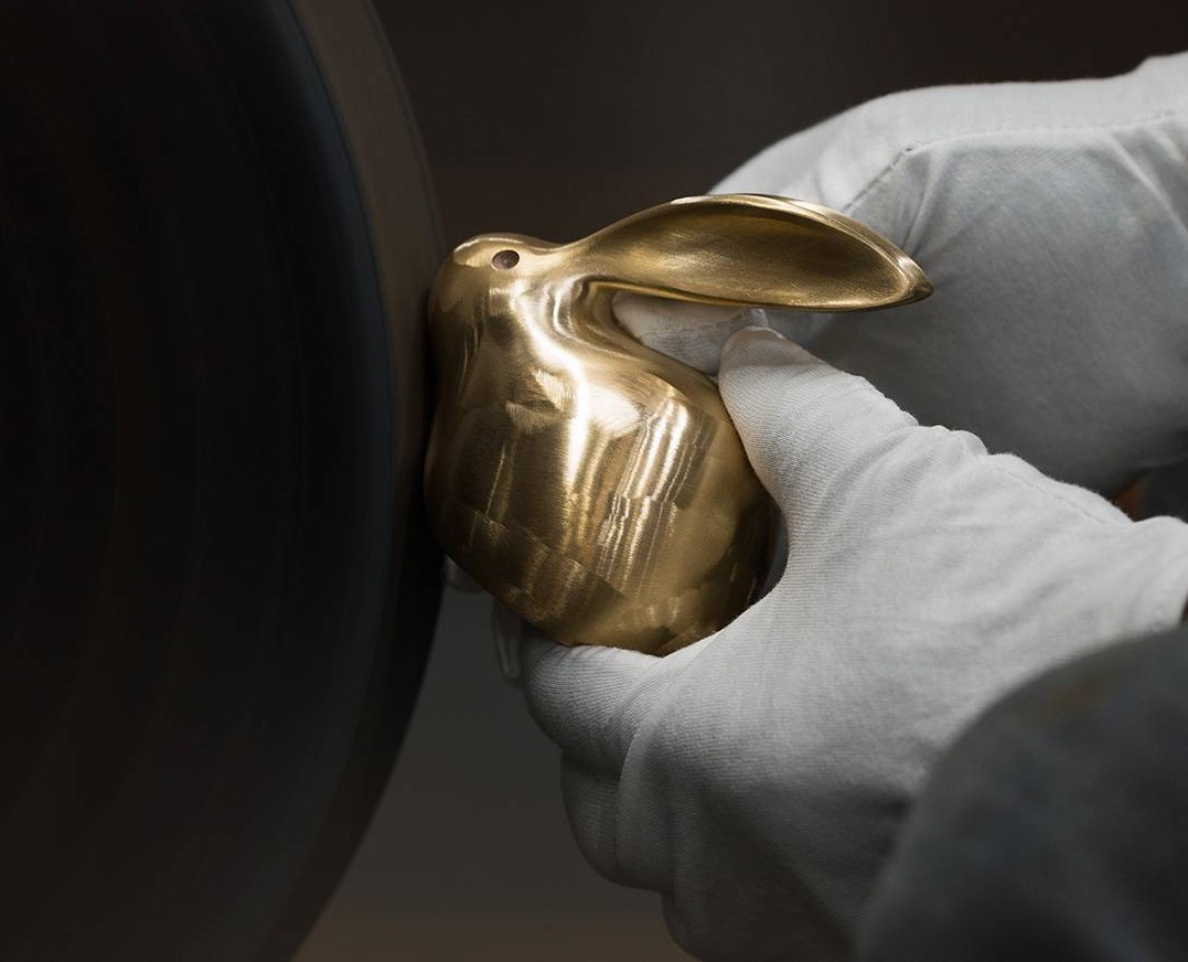 TONGSHIFU Crystal Copper Bunny Gold  обробка вручну