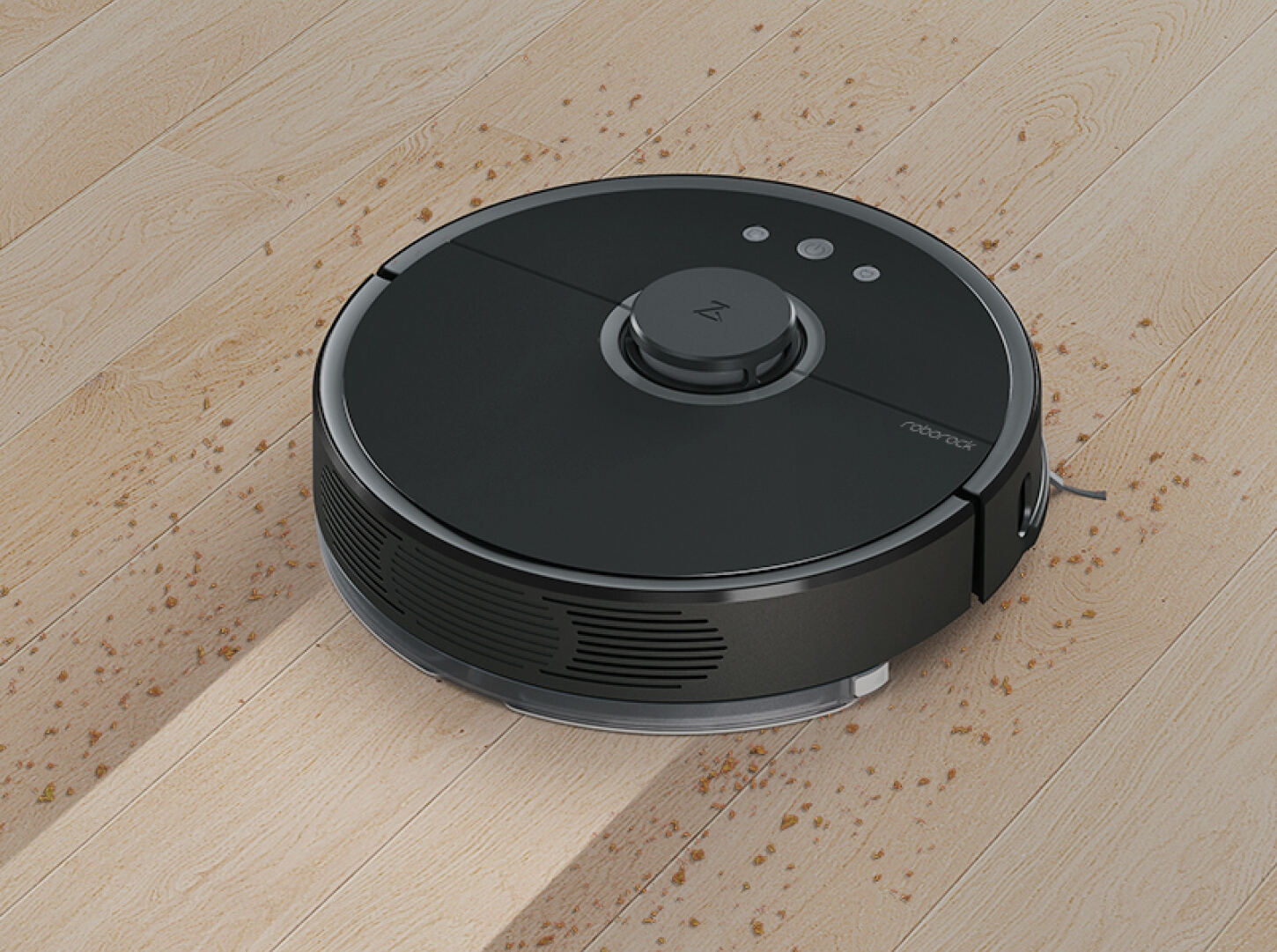 Робот-пилосос RoboRock Sweep One Vacuum Cleaner на підлозі