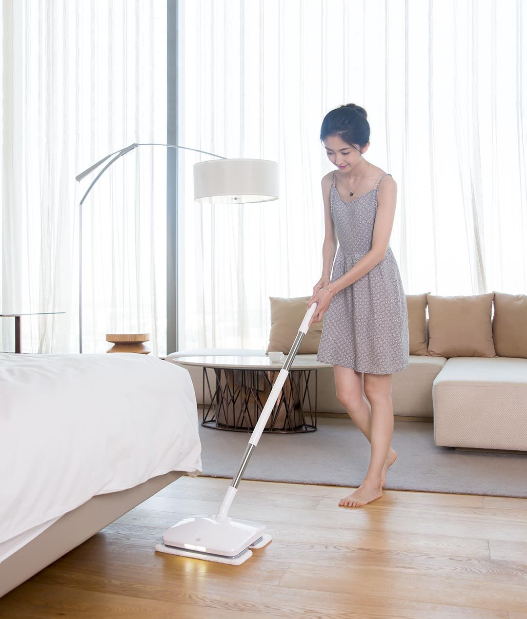 SWDK Полотер/Электрошвабра Handheld Electric Mop White Mi прибирання