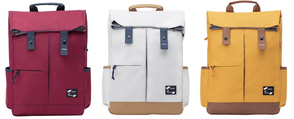Рюкзак U'REVO College Leisure Backpack три кольори