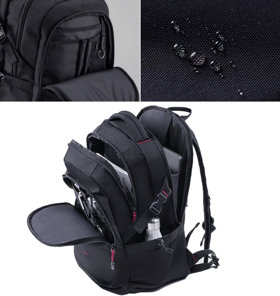Рюкзак U'REVO large capacity multi-function backpack різні предмети в рюкзаку