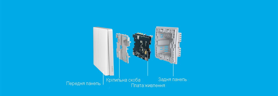 Розумний перемикач Aqara smart light switch ZigBee Version будова