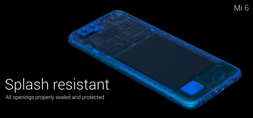 xiaomi mi-6 splash resist