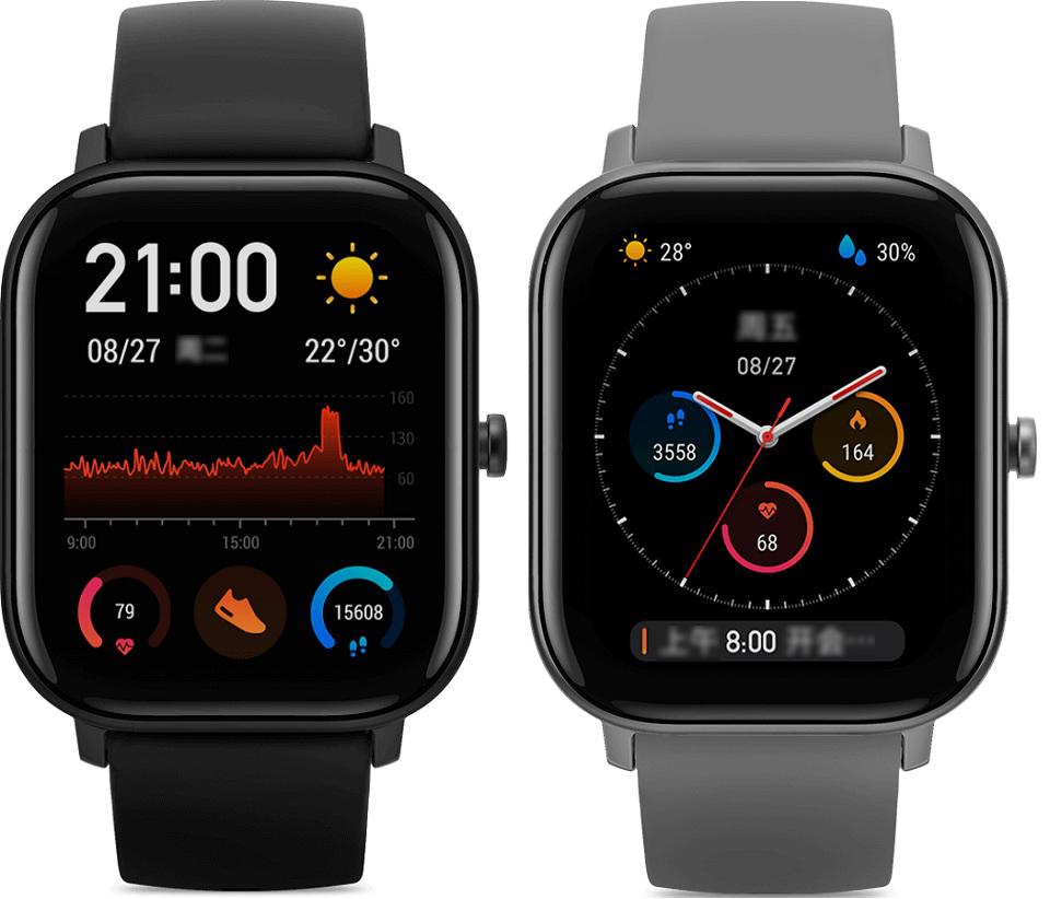 Розумний годинник Xiaomi Amazfit GTS в двох кольорах