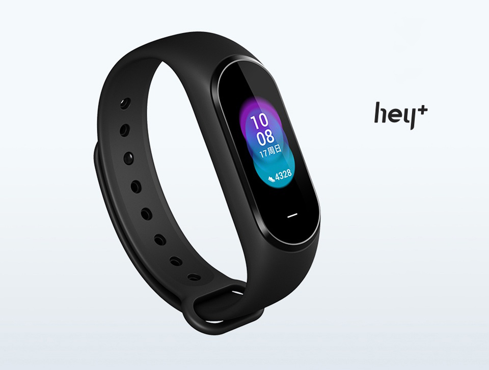 Фітнес браслет Xiaomi Hey Plus Band NFC Black крупним планом