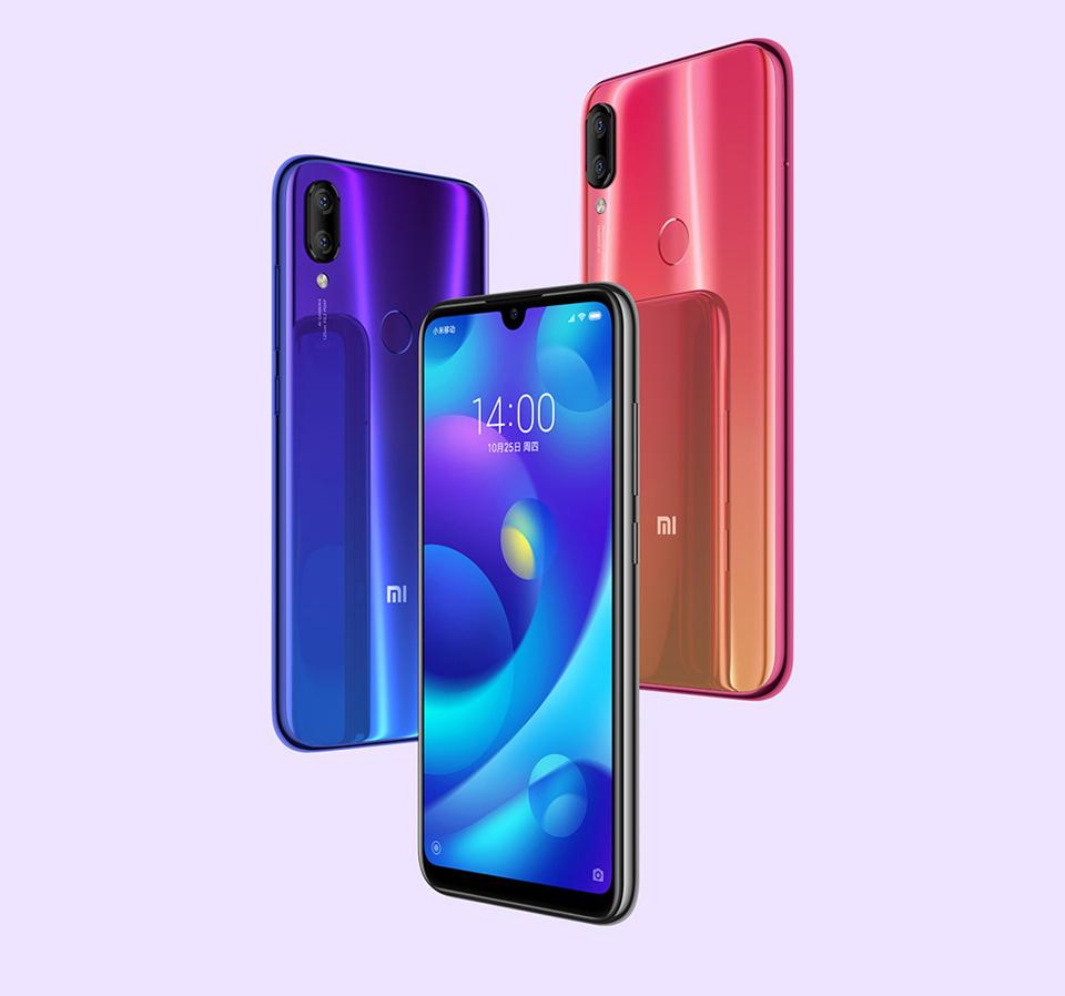 Смартфон Xiaomi Mi Play в трьох кольорах
