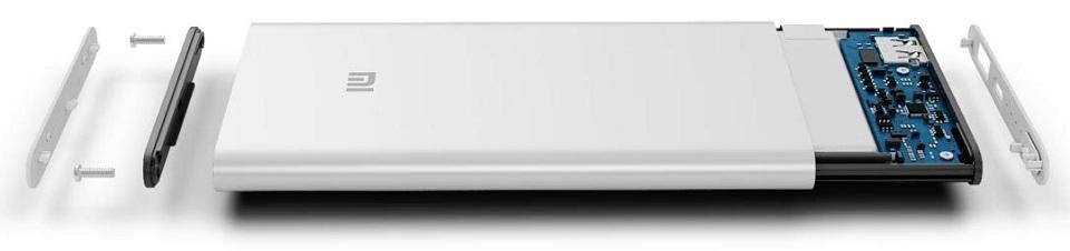 Універсальна батарея Xiaomi Mi Power bank 2 Slim 5000mAh Silver ORIGINAL конструкція