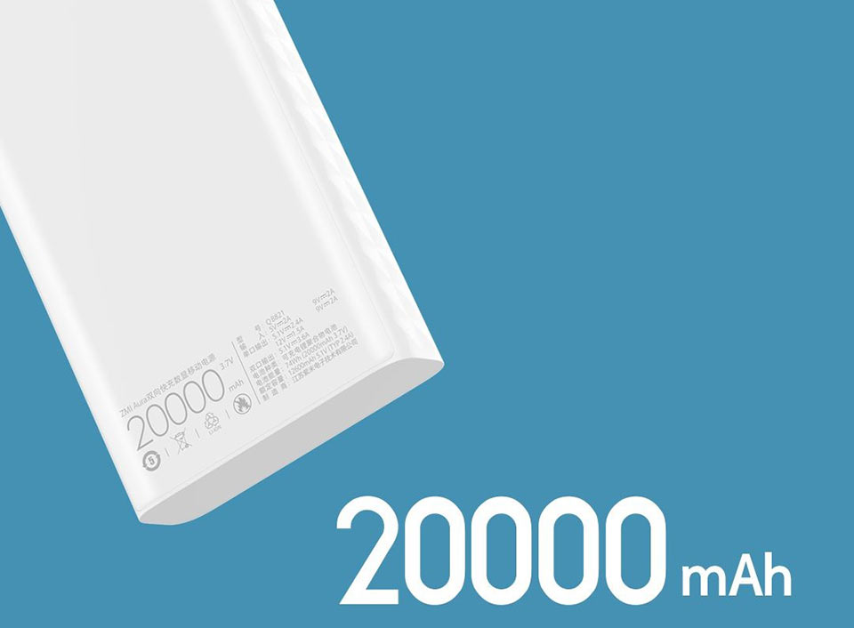 ZMi Powerbank Aura 20 000 mAh Type-C ємність