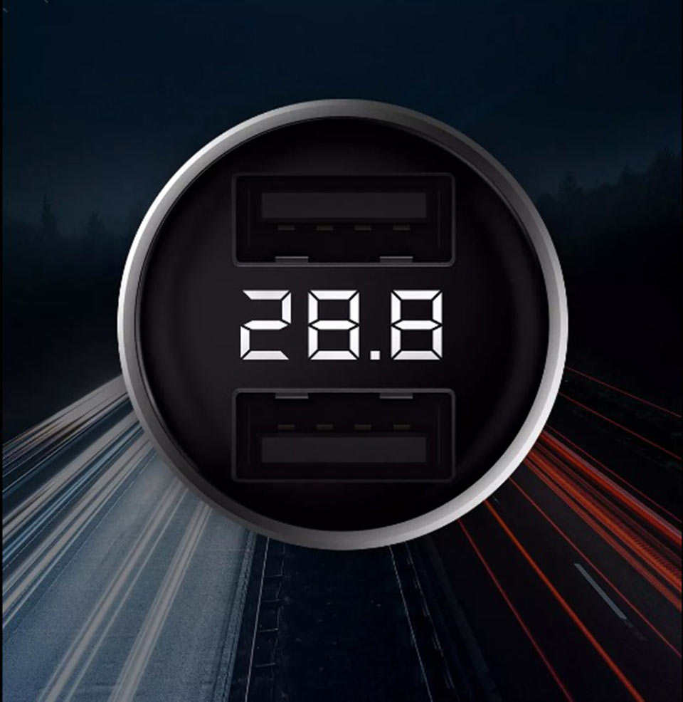 Zmi Car Charger with Display дисплей